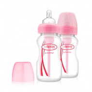 Dr. Brown's - Duo Pack Roze - Brede fles 2x 270ml