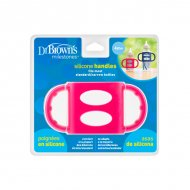 Dr. Brown's - Siliconen handles - Standaardfles - Roze