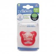 Dr. Brown's - Fopspeen - Glow in the Dark (0-6 maanden) Roze