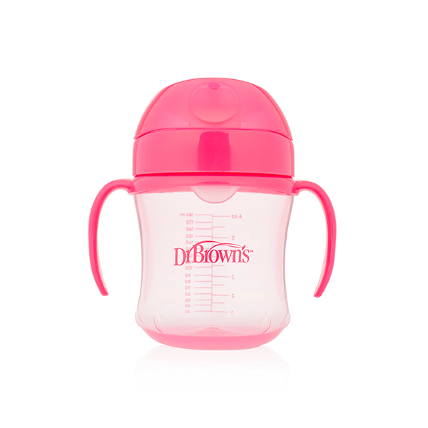 Dr. Brown's - Trainingsbeker roze 180ml (zachte tuit)