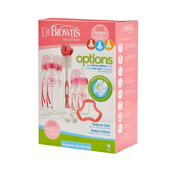 Dr. Brown's Options Bottle Gift Set Standaard - Roze