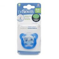 Dr. Brown's - Fopspeen - Glow in the Dark (0-6 maanden) Blauw