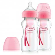 Dr. Brown's Options+ - Duo Pack Roze - Brede fles 2x 270ml