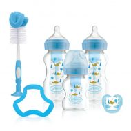 Dr. Brown's - Options+ Anti-colic Bottle Giftset - Brede halsfles blauw