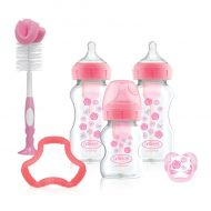 Dr. Brown's - Options+ Anti-colic Bottle Giftset - Brede halsfles roze