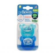 Dr. Brown's - Fopspeen - Glow in the Dark - 0-6 maanden - Blauw