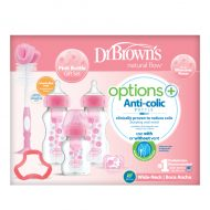 Dr. Brown's - Brede halsfles - Options+ - Giftset - Roze