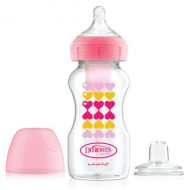 Dr. Brown's - Brede halsfles - Starterkit - Bottle to Sippy - 270ml - Roze